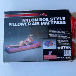 "Vintage Nylon Box Pillowed Air Mattress 29"" x 76"""